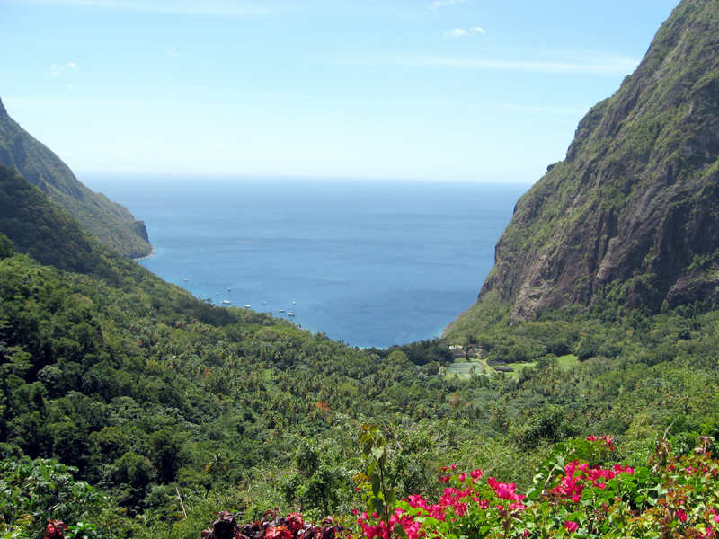 View from between the Pitons