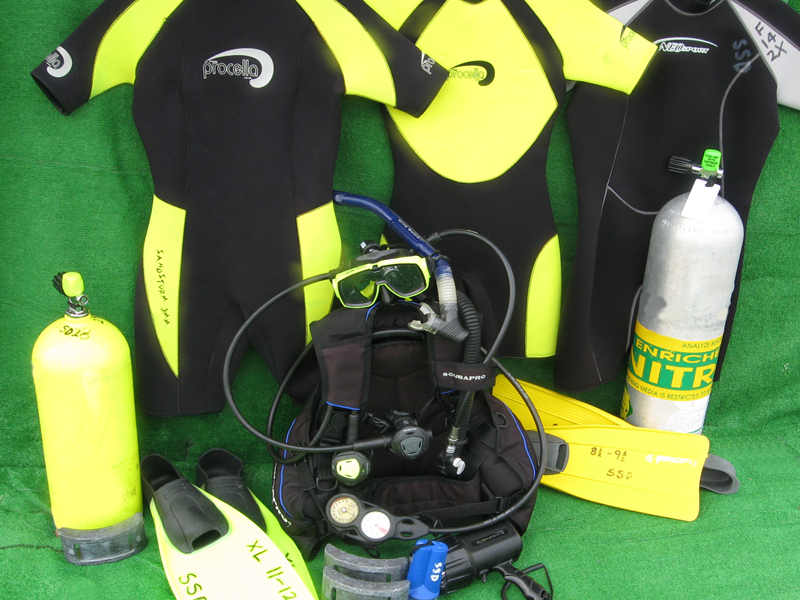 Top quality rental dive equipment