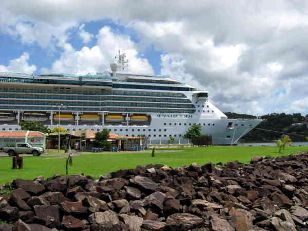 Cruise Ship docked in Castries