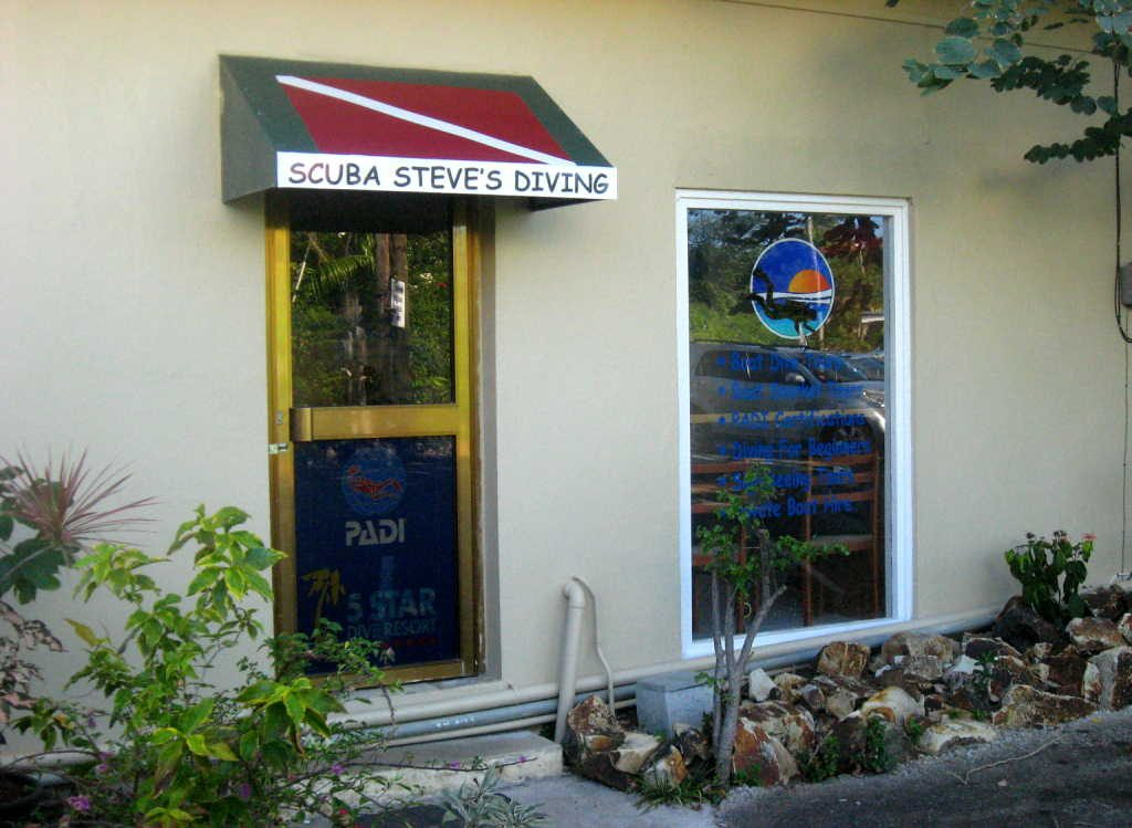 Dive Center Entrance
